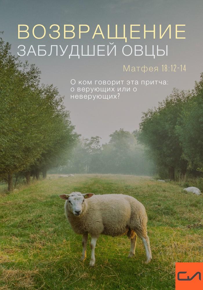 Возвращение заблудшей овцы. Матфея18:12-14